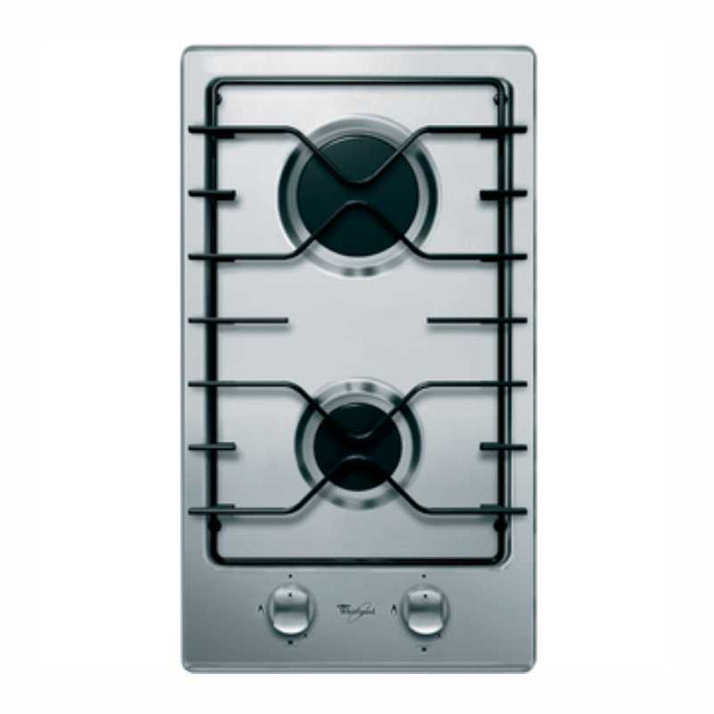 Whirlpool AKT301/IX 30cm Domino Gas on Stainless Steel Hob
