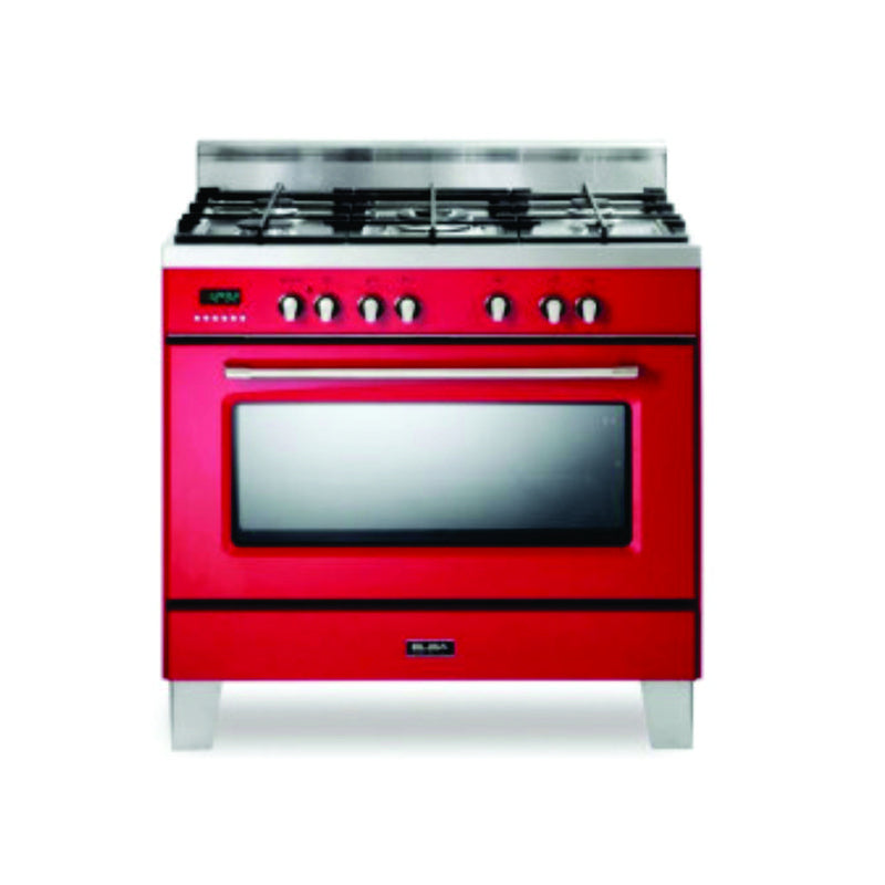 Elba Stove 01/97X827 Red 5 Burner/Electric oven