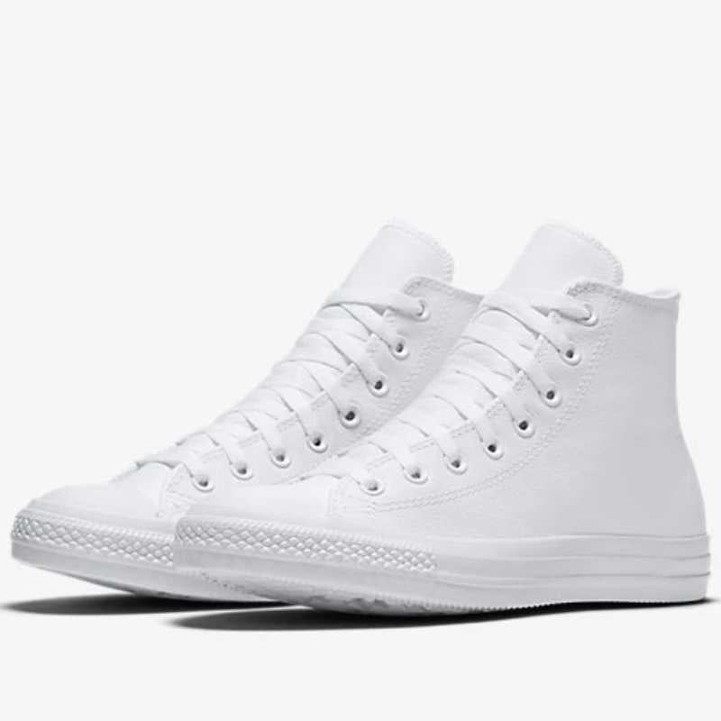Converse All Star Leather Hi-Top White Ladies Cut