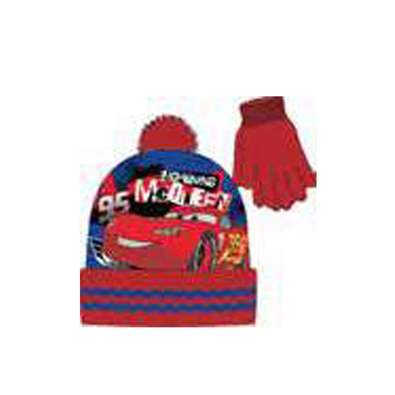 Cars 2 Piece Beanie & Glove Set