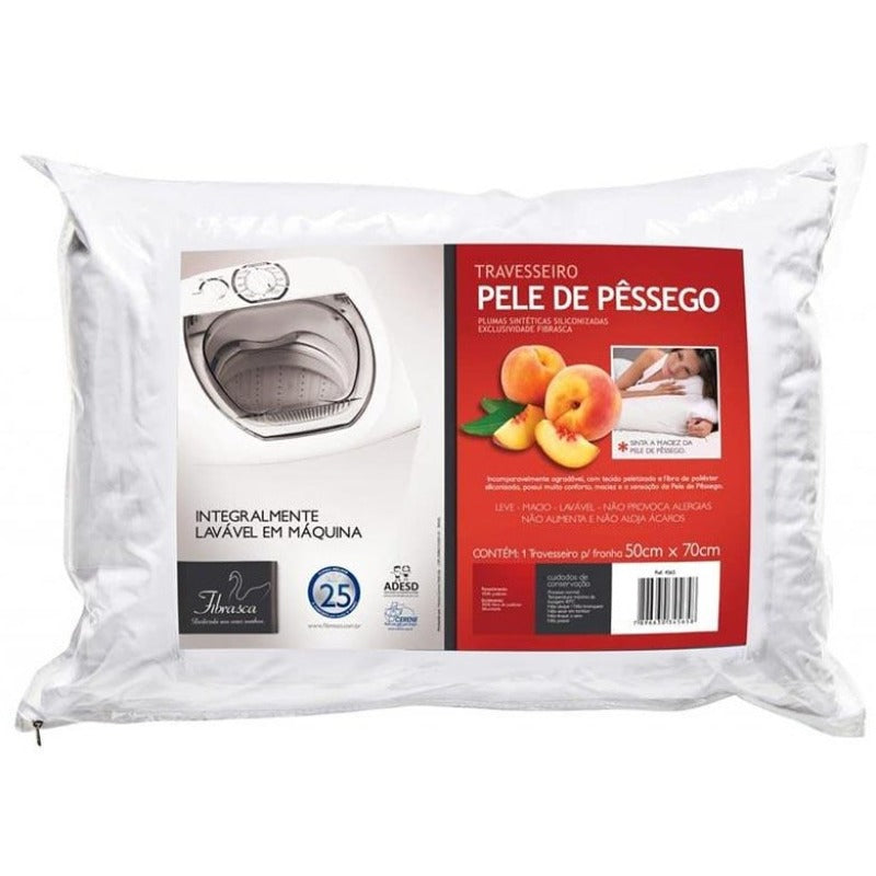 Peach Velvet Pillow 4565