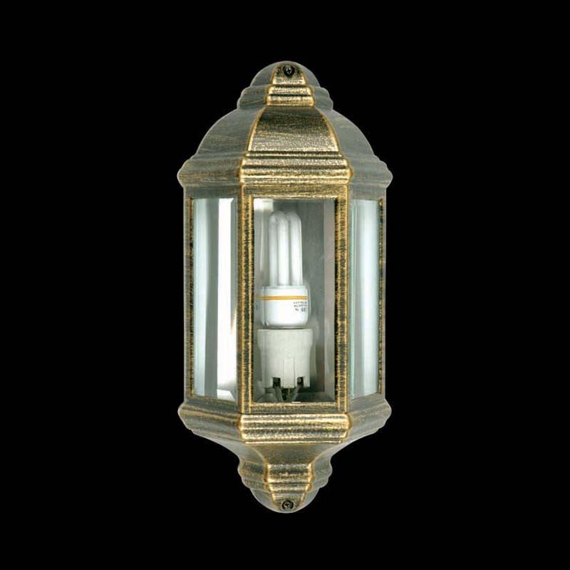 Lantern Die Cast L13-MB+AG MATT Black+Antique Gold