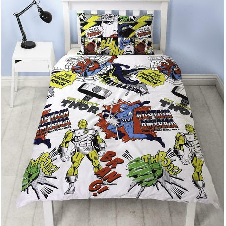 Marvel Comics Mighty Marvel Duvet Cover Set