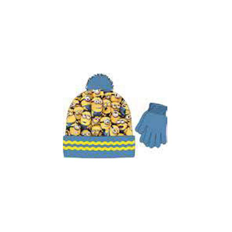 Minions Boy 2 Piece Beanie & Glove Set