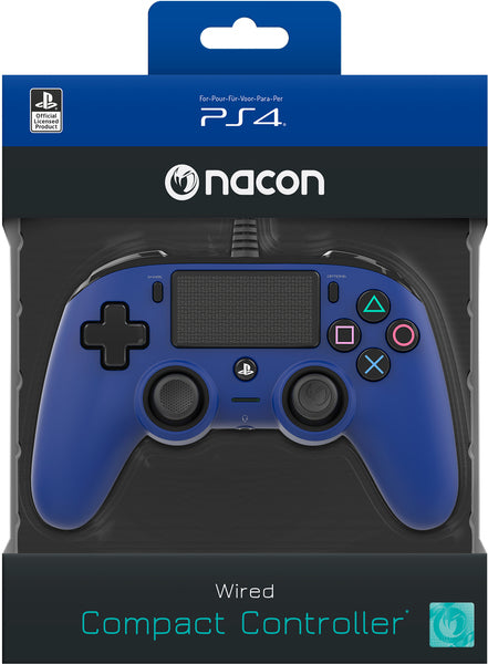 Nacon - Wired Compact Controler for PS4 (Blue)