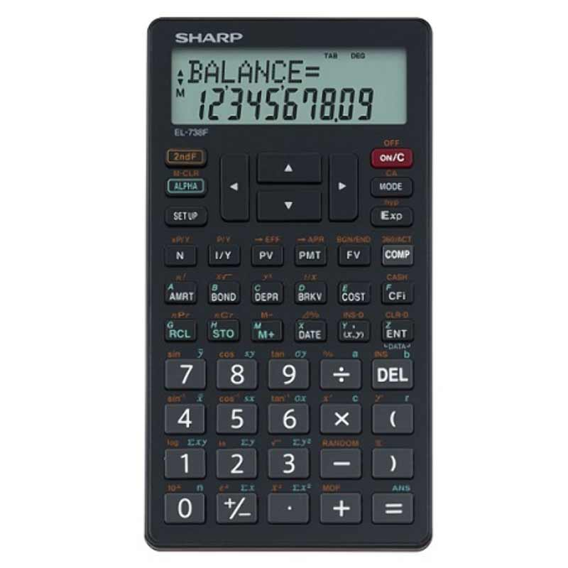Sharp EL-738Business and Financial Calculator