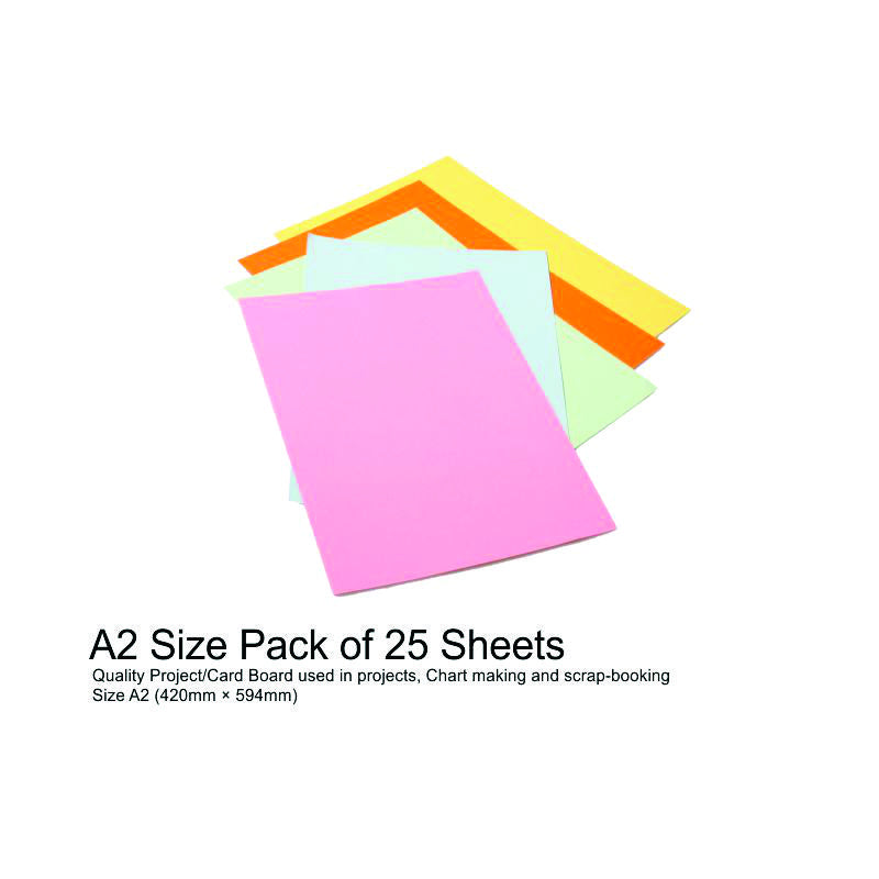 A4 Project Boards-25 Sheets asst