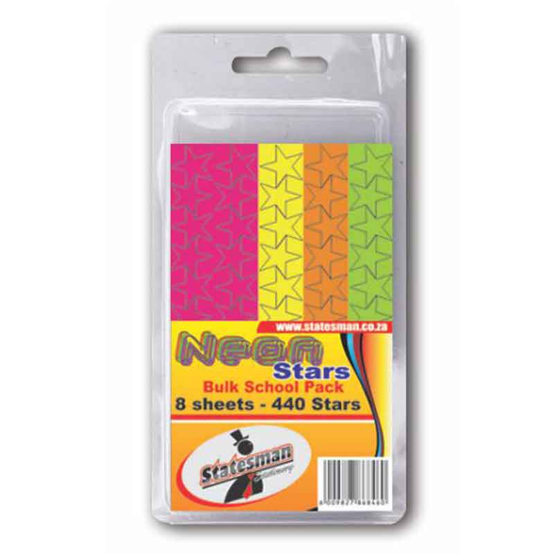 Pack of 440 Neon Stars Labels