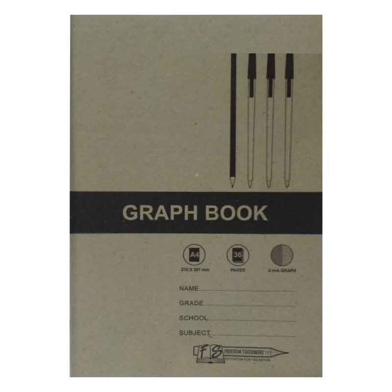 FRD A4 36PG GRAPH BOOK 2MM GRA006C