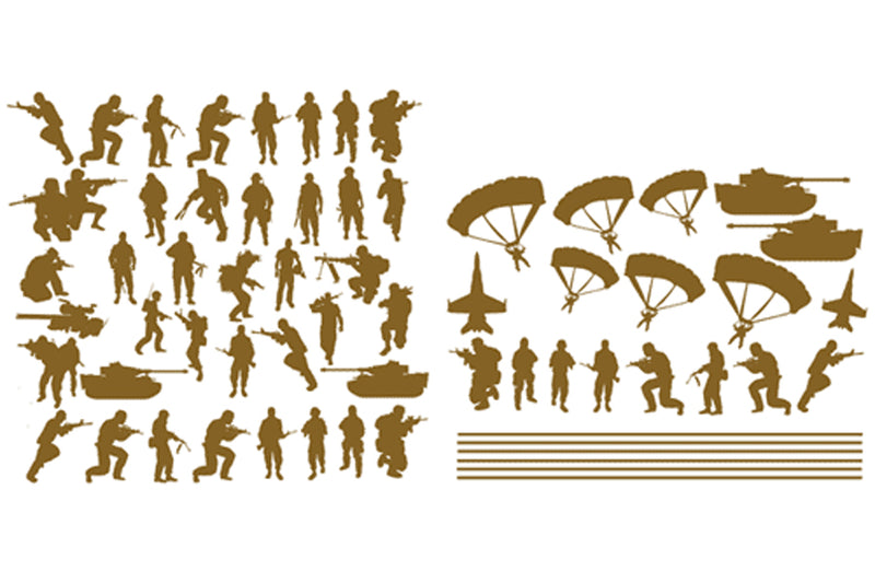 Toy soldier vinyl wall stickers