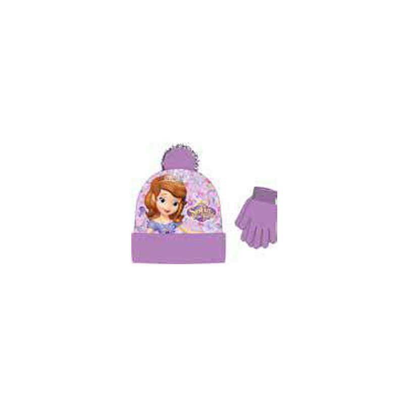 Sofia The First 2 Piece Beanie & Glove Set