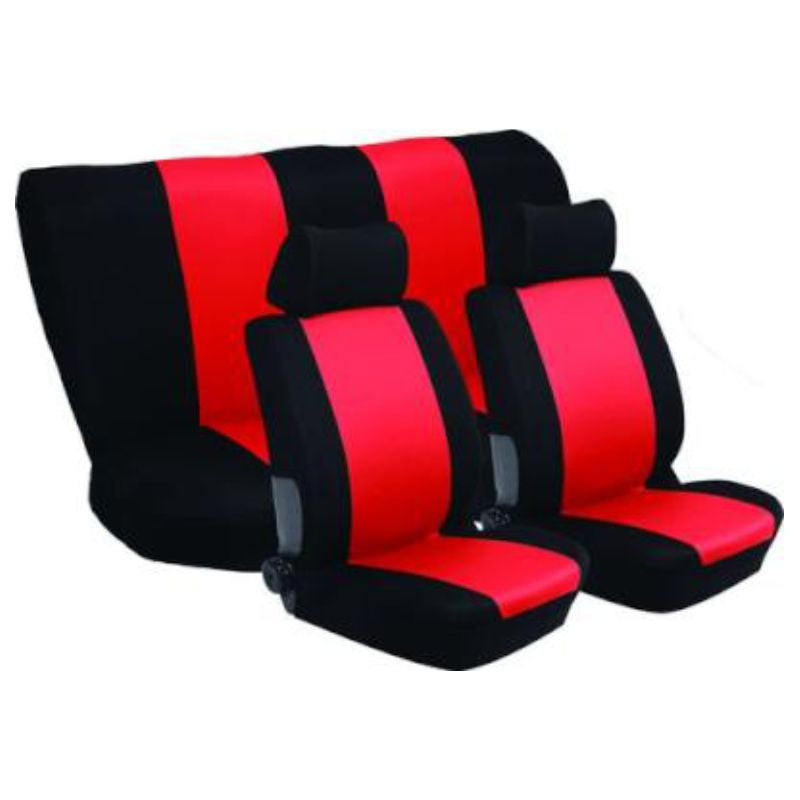 Stingray Nexus Full Car Seat Cover Set (6 Piece) (Black/Red)