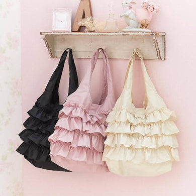 Romantic Princess (Romapri) Frill Eco Bag – Black Color