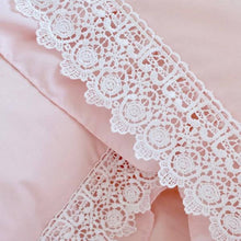 Load image into Gallery viewer, Romantic Princess (Romapri) Sweet Rose Lace Pillowcase – Set of 2 – Pink