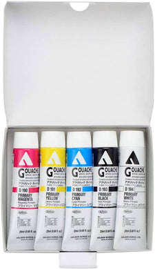Holbein Acrylic (Acryla) Gouache Basic 5 Color Set - 20ml Tubes - D421 (No. 6) 007421