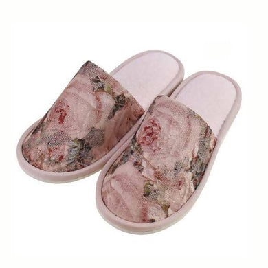 Romantic Princess (Romapri) Slippers – Pierre-Joseph Redouté Rose motif
