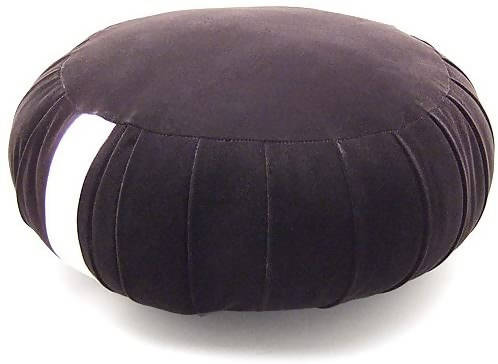 TAKITA SHOTEN Black Velvet Zen Meditation Cushion 30cm (1 Shaku) Diameter – Made in Japan