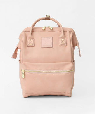 ANELLO Re:Model Synthetic Leather Backpack Small – Pink Beige
