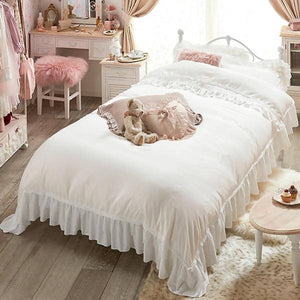 Romantic Princess (Romapri) Sweet Rose Lace Comforter Cover – Single Bed Size – White