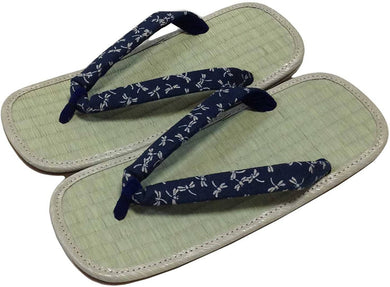 EDO-TEN Men's Premium Traditional Japanese Tatami Zori Sandals – Small Dragonfly Hanao (Thongs)