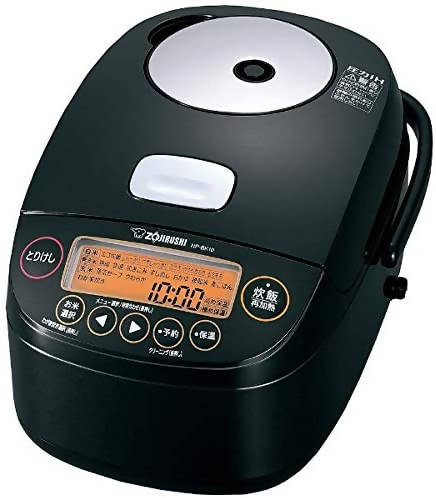 Zojirushi NP-BK10-BA Pressure IH (Induction Heating) Platinum Coat Ironware Rice Cooker – 5.5 Go Capacity