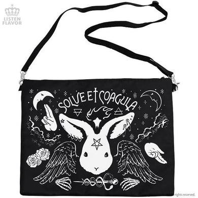 LISTEN FLAVOR Darkness Ceremony 2-Way Clutch Bag – Black – Straight Outta Harajuku
