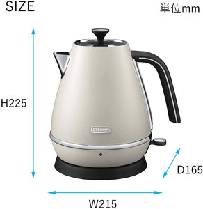 DeLonghi Distinta Collection Electric Kettle Pure White 1.0L KBI1200J-W
