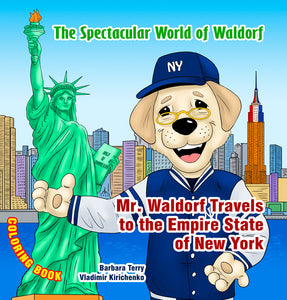 Mr. Waldorf Travels to New York - Coloring Book