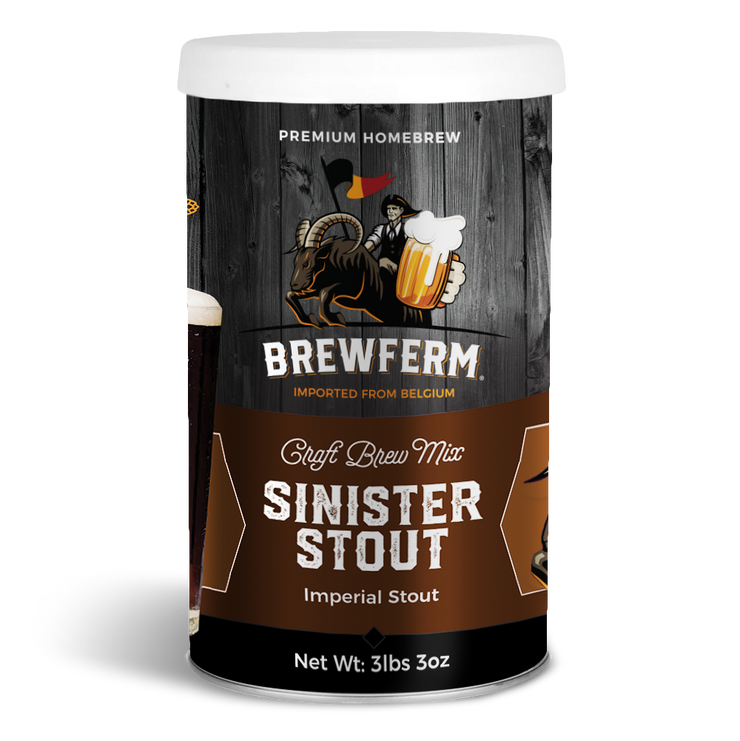 Sinister Stout - Homebrew Craft Beer Mix for 9 L / 304 fl.oz-Beer Kit-Brewferm