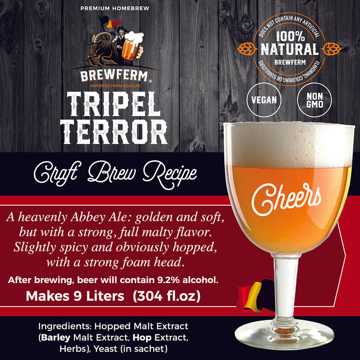 NEW - Brewferm® Buckriders Belgian Home Brewing Premium Deluxe Craft Beer Kit - Tripel Terror
