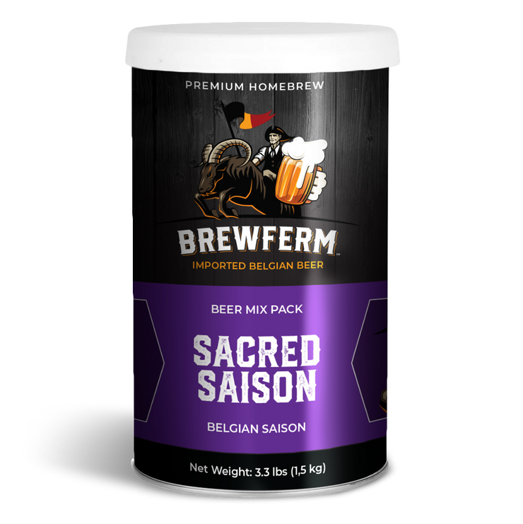 Homebrew Starter Kit - Sacred Saison Beer Mix-Gift Kits-Brewferm