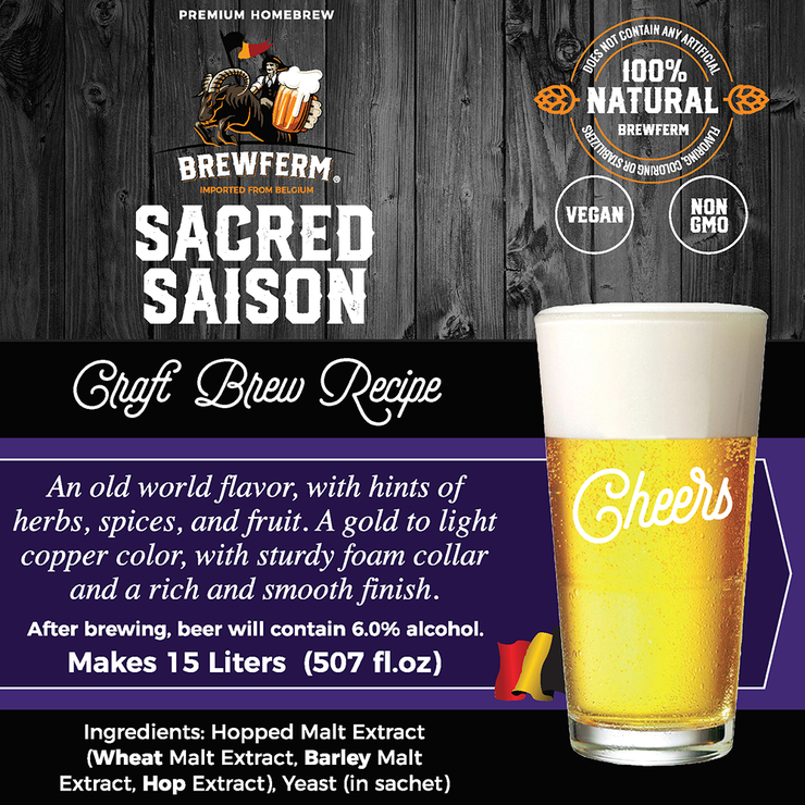 Sacred Saison - Homebrew Craft Beer Mix for 15 L  / 4 gal