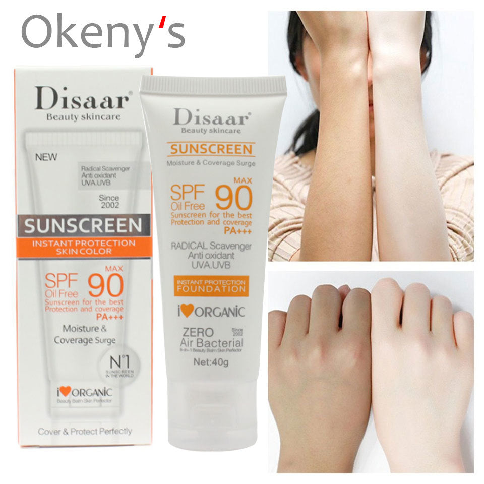 Disaar Sunscreen Cream Spf 90 ++ Moisturizing Skin Protect Sunblock 80g Face Care Prevents Skin Damage, Remove Pigmention Sp 40g