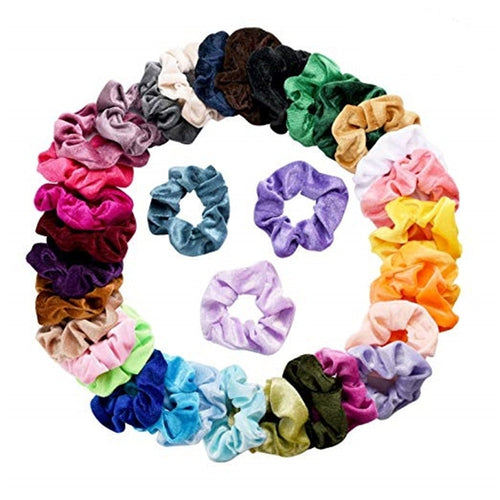 36 Pcs Women Headband Velvet Hair Scrunchies