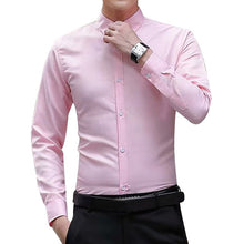 Load image into Gallery viewer, Men Long Sleeve Shirts Slim Fit
