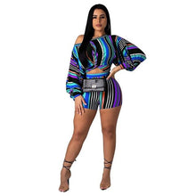Load image into Gallery viewer, Striped Print Women 2 Piece Set