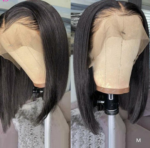 Brazilian Wig Straight Short Bob With Baby Hair