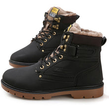 Load image into Gallery viewer, Tangnest Winter Fur Men Boots Casual Lace Up Safety Work Boots Autumn