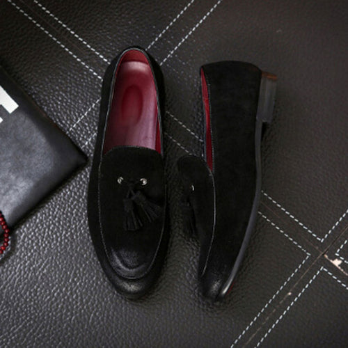 Tangnest Newest Men Genuine Leather Shoes