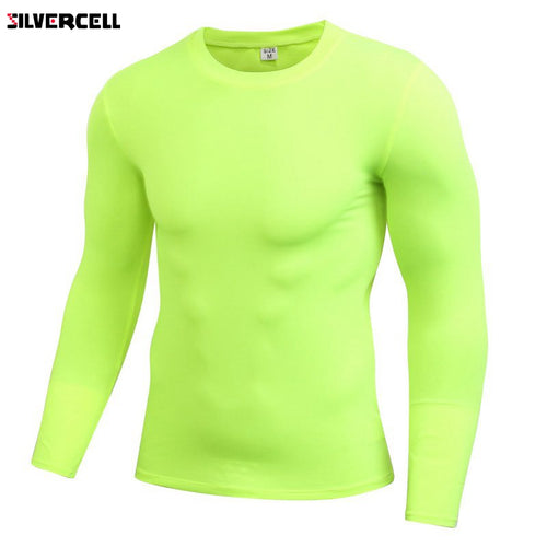 Men Compression Long Sleeve Quick Dry Shirt