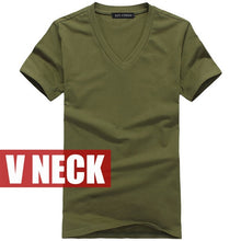 Load image into Gallery viewer, Male solid color T Shirts V neck