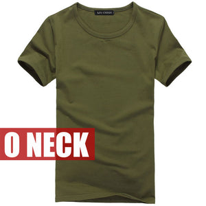 Male solid color T Shirts V neck