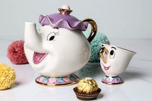 Load image into Gallery viewer, Cute Cartoon Beauty And The Beast Teapot Mug Mrs Potts Chip Cup Tea Pot Cup Set