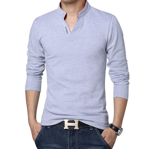 High Quality Brand Mens Polo Shirt Slim Fit Stand Collar