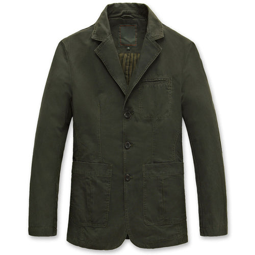 High quality S-4XL Men's Jacket 100% pure cotton