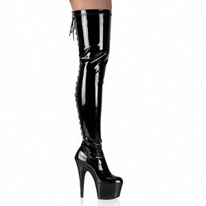 15cm High-Heeled Shoes Cutout Over-The-Knee Women's Boots