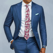 Load image into Gallery viewer, 2 pieces Blue Formal Men Suit