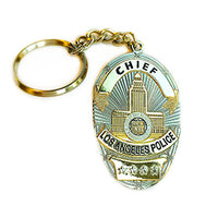 LAPD Chief Badge Keychain