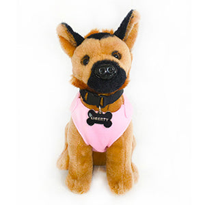 Liberty the Dog Plush Toy - Pink