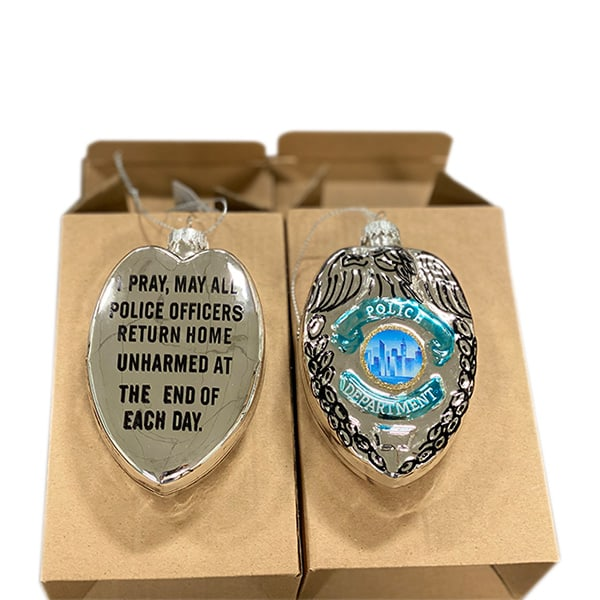Police Badge Ornament